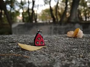 Náhrdelníky - Rozprávkový domček - čerešnička - 10007323_