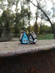 Náhrdelníky - Rozprávkový domček - modrý ako nebo - 10007364_