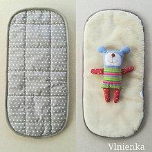 Textil - Roan Merino vložka do hlbokej vaničky kočíka hviezdička - 10007000_