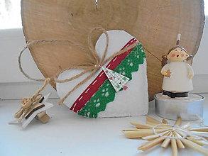 Dekorácie - Vianočné srdiečka - rozprávkové - 10005858_