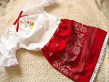 Detské súpravy - Krojová košieľka dievčenská a sukňa - 10005794_