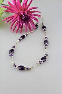 Náhrdelníky - Ametyst náhrdelník luxusný - 10007749_