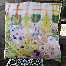 Úžitkový textil - Príchuť dobrej nálady-batikovaná obliečka - 10007762_