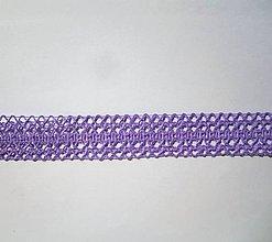 Galantéria - Čipka fialová- š. 25 mm - 10007702_