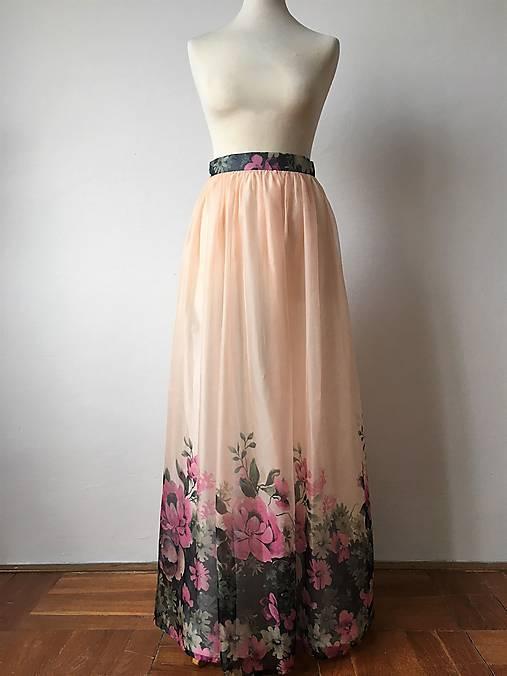 adcc9df43833 Romantická dlhá sukňa Rozkvitnutá   EVART - SAShE.sk - Handmade Sukne