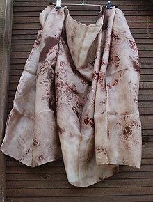 Šatky - silk scarf_hodvábne šatka_pareo_brown - 10006871_