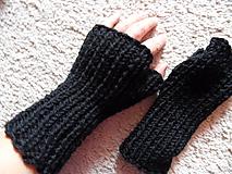 bezprstové rukavičky čierne unisex