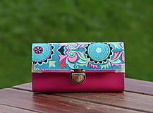 Peňaženky - Peněženka Amy Butler, 18 karet, na fotky - 10007223_