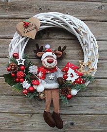 Dekorácie - Vianočný veniec-sobík... - 10006493_