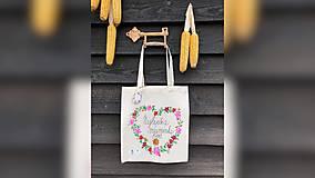 Nákupné tašky - ♥ Plátená, ručne maľovaná taška ♥ (MI17) - 10006763_