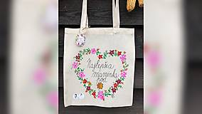 Nákupné tašky - ♥ Plátená, ručne maľovaná taška ♥ (MI17) - 10006764_