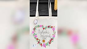Nákupné tašky - ♥ Plátená, ručne maľovaná taška ♥ (MI17) - 10006765_