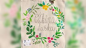 Iné tašky - ♥ Plátená, ručne maľovaná taška ♥ - 10006906_