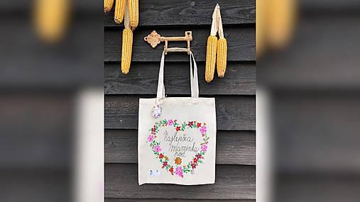 ♥ Plátená, ručne maľovaná taška ♥ (MI17)