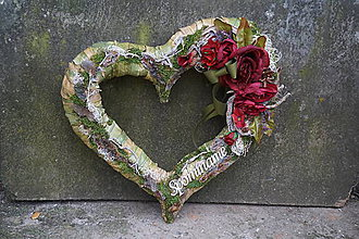 Dekorácie - Srdce na hrob - 10007093_