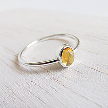 Prstene - November: LeMon Mini / Citrín 6x4mm - 10007480_