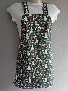 Iné oblečenie - VIANOČNÝ ZÁSTERKA - zelená - 10006837_