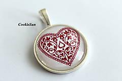 Náušnice - Folk Hearts (Prívesok 25mm) - 10007718_