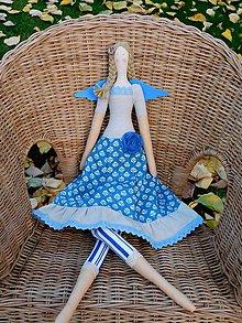 Bábiky - Blue angel..., textilný anjel, 60 cm - 10007451_