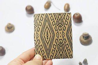 Papiernictvo - Malý vzorovaný zápisník - 10006087_