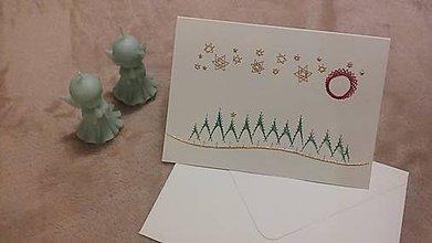 Papiernictvo - Pohľadnica  vianočná krajinka - 10007042_