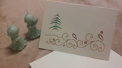 Papiernictvo - Pohľadnica - vianočná krajinka 2 - 10007067_