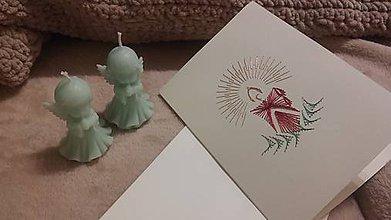 Papiernictvo - Pohľadnica - sviečka - 10007533_