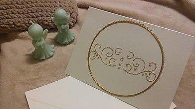 Papiernictvo - Pohľadnica - ornament v kruhu - 10007593_