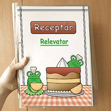 Papiernictvo - Žabí receptár pomarančový - 10007691_