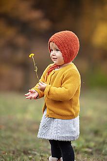 Detské čiapky - Jesenný čepček - hrdzavý - 10012149_