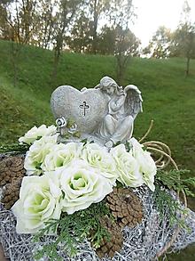 Dekorácie - Spomienková dekorácia s anjelom - 10010888_