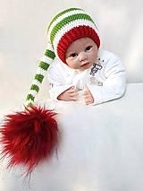 Detské čiapky - Čiapočka pre škriatka - 10009357_