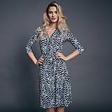 Šaty - Zavinovacie bodkované šaty - 10009287_