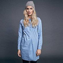 Šaty - Oversize košele (modro biela kocka) - 10009079_