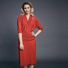 Šaty - Červené úpletové šaty - 10009239_