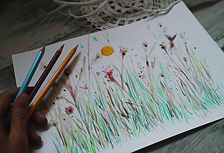 Kresby - Posledné slnko - 10010732_