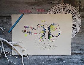 Kresby - Na Lumurmu malý motýľ - 10010900_