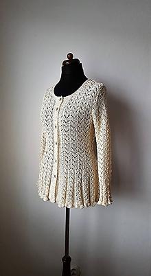 Svetre/Pulóvre - Glamour svetrík - z luxusnej egyptskej bavlny - 10010684_