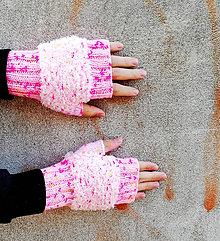 Rukavice - Ružové návleky - 10011410_