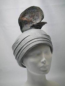 Čiapky - Šedý vlnený klobúk 20te roky - 10009860_
