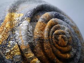 Čiapky - Plstený klobúčik ála 20te roky-šedý - 10011212_