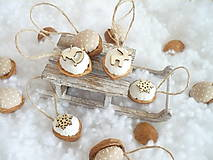 Dekorácie - Oriešky vianočné , prírodné.. - 10009475_