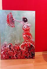 Obrazy - Flamenco dancer_predané - 10008606_