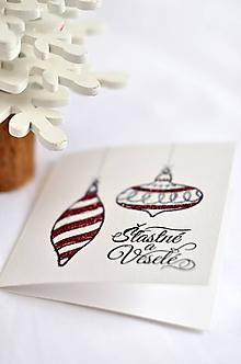Papiernictvo - Mini trblietavá pohľadnica - 10009145_