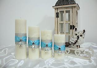 Svietidlá a sviečky - Tyrkysové vianočné obdobie - 10011026_