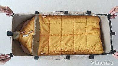 Textil - RUNO SHOP fusak pre deti do kočíka 100% ovčie runo MERINO TOP super wash do úzkych vaničiek a autosedačky s otvormi - 10009195_