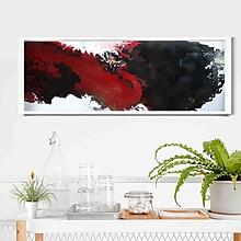 Obrazy - abstraktný akrylový obraz - láva - 10011721_