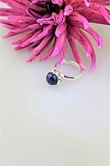 Prstene - lapis lazuli prsteň striebro - nastaviteľný - 10011308_