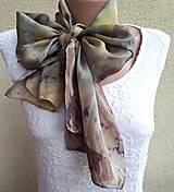 Nádych flóry-hodvábny ecoprint šál