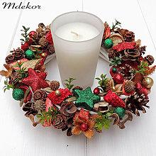 Dekorácie - Vianočný venček - 10011154_